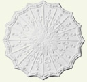 Adam Spray with Scalloped Edge Ceiling Rose