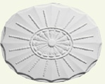 Adam Oval with Scalloped Canopy Ceiling Rose