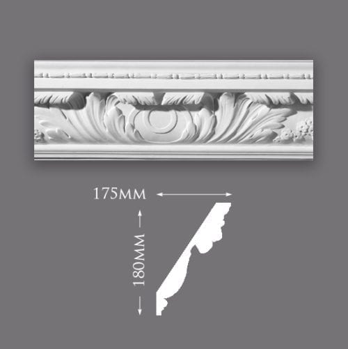 Large Acanthus Leaf with Bead Cornice