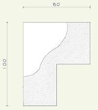 step cornice C0146