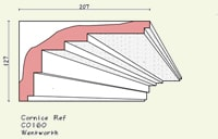 step cornice C0160