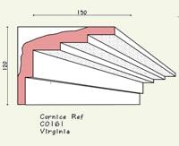 step cornice C0161